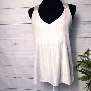 Banana Republic LtGrey Pleated Tank Top - M